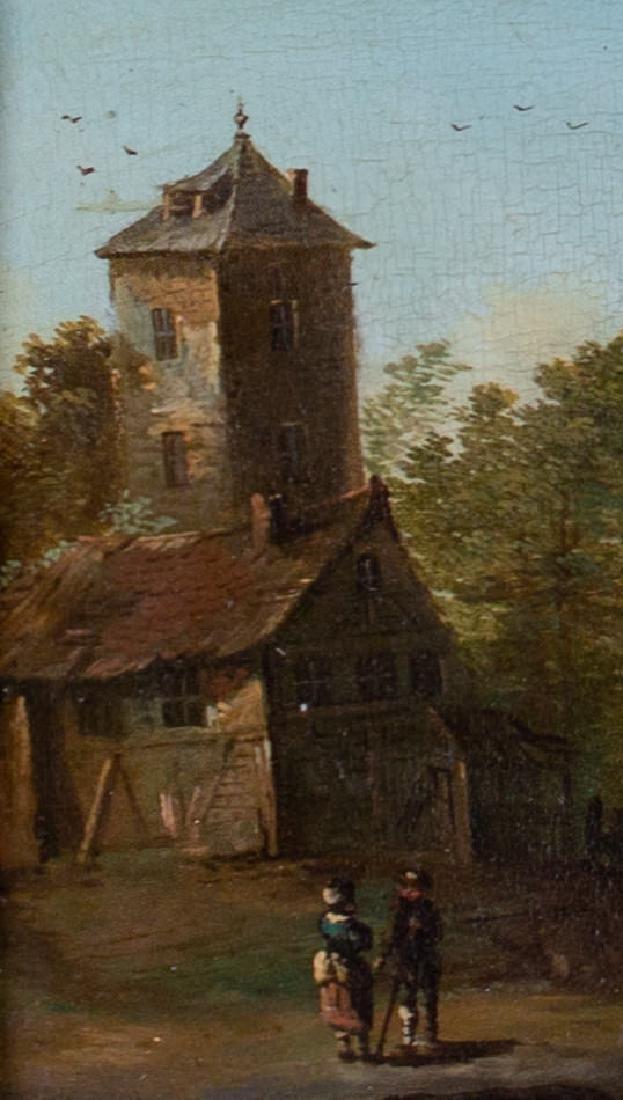 Dutch Town, Charming Genre Scene, 18th Century - 3