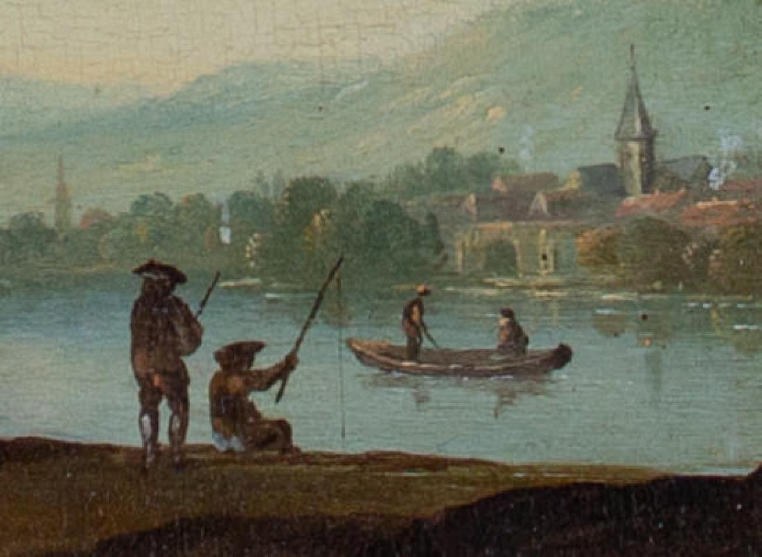 Dutch Town, Charming Genre Scene, 18th Century - 4