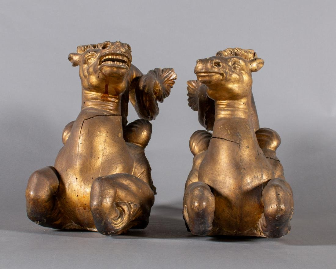 Pair of Carved Gilt 18th/19th Century Italian