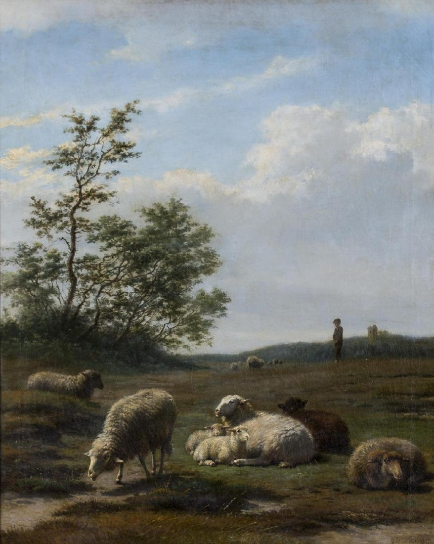Frans Lebret (Dutch, 1820-1909) Sheep in Landscape, c. - 2