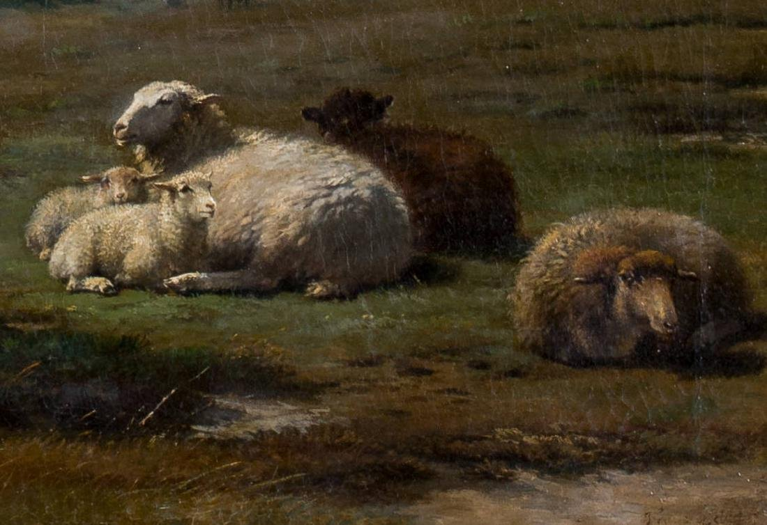 Frans Lebret (Dutch, 1820-1909) Sheep in Landscape, c. - 5