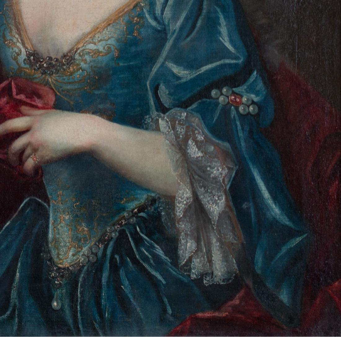 Continental Portrait of Woman with Apple, 18th century - 3