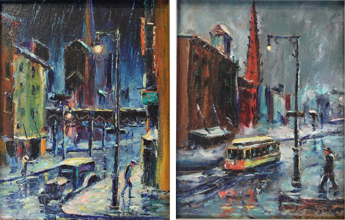 Louis Bosa (American, 1905-1981) New York City Street