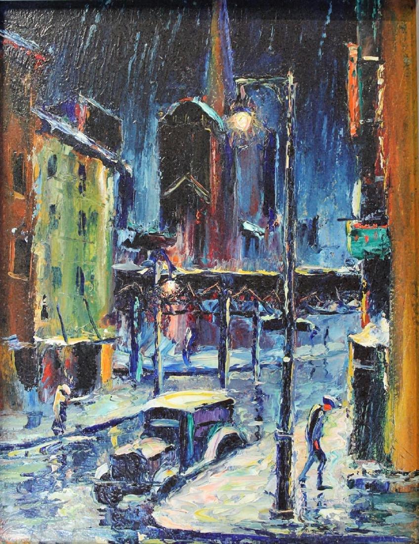 Louis Bosa (American, 1905-1981) New York City Street - 2