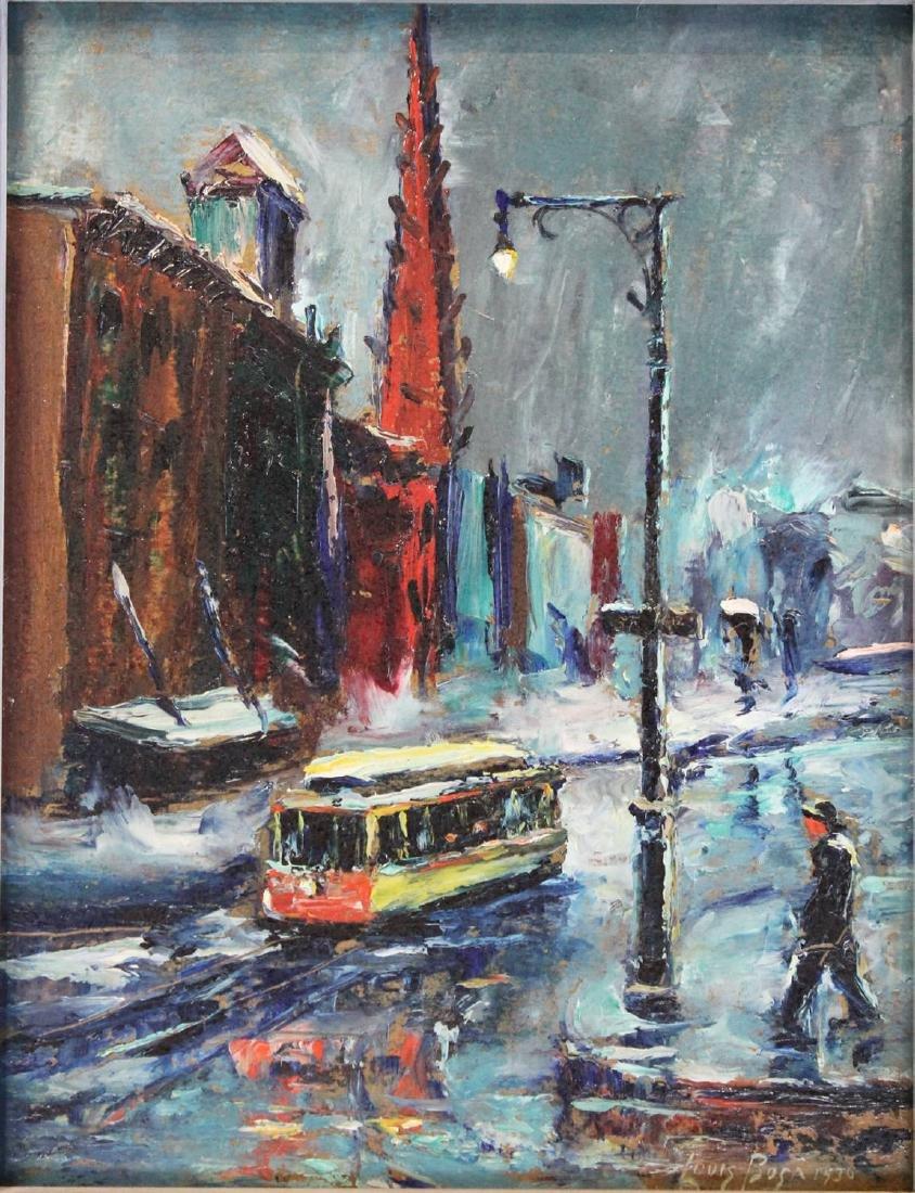 Louis Bosa (American, 1905-1981) New York City Street - 6