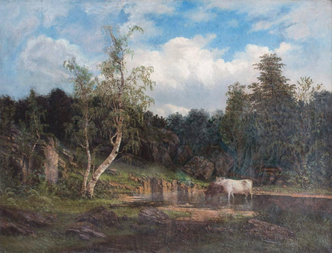 19th Century American Landscape with Cows - 2