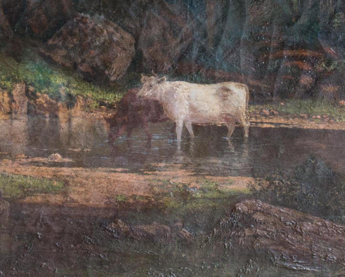 19th Century American Landscape with Cows - 4