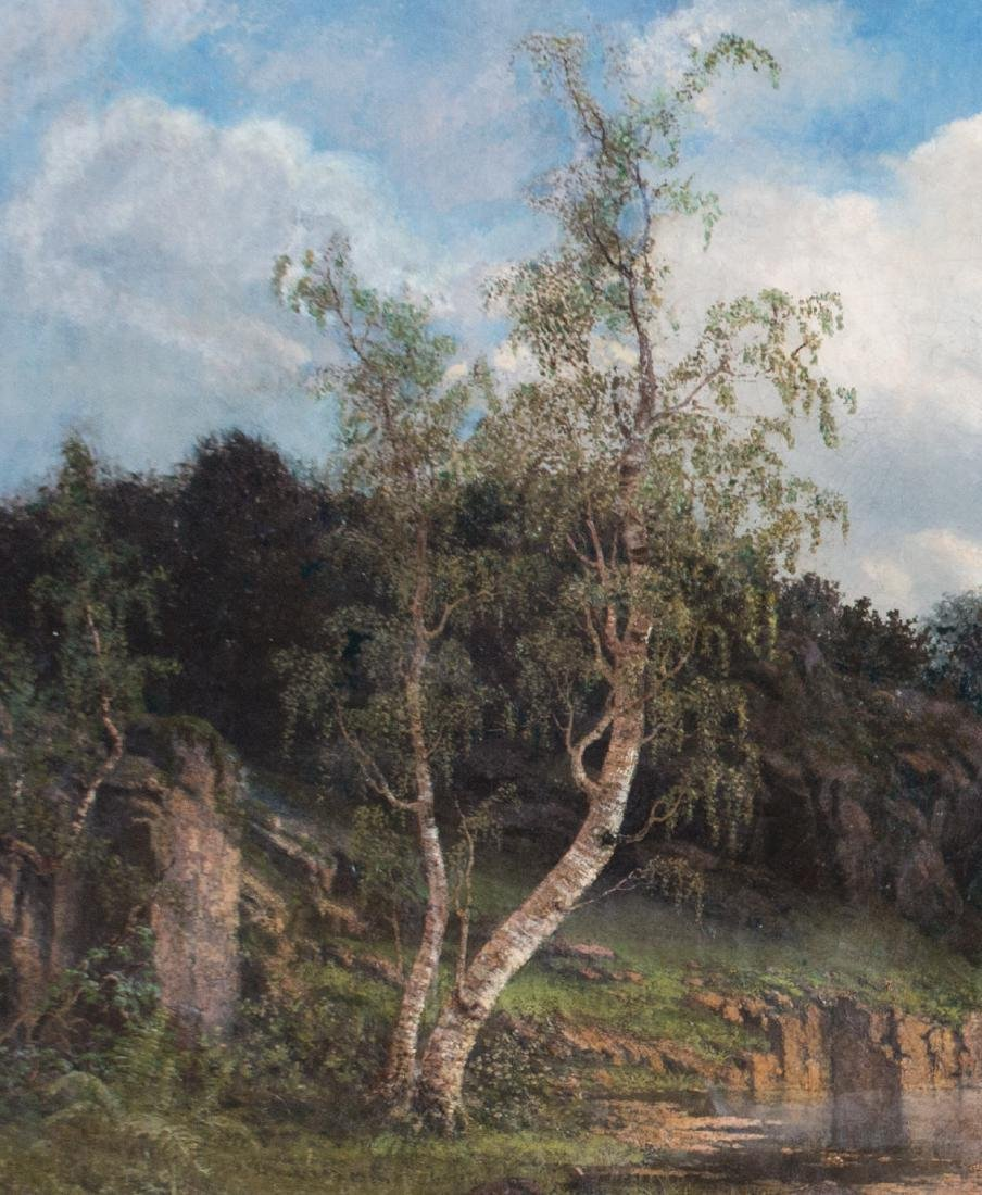 19th Century American Landscape with Cows - 5