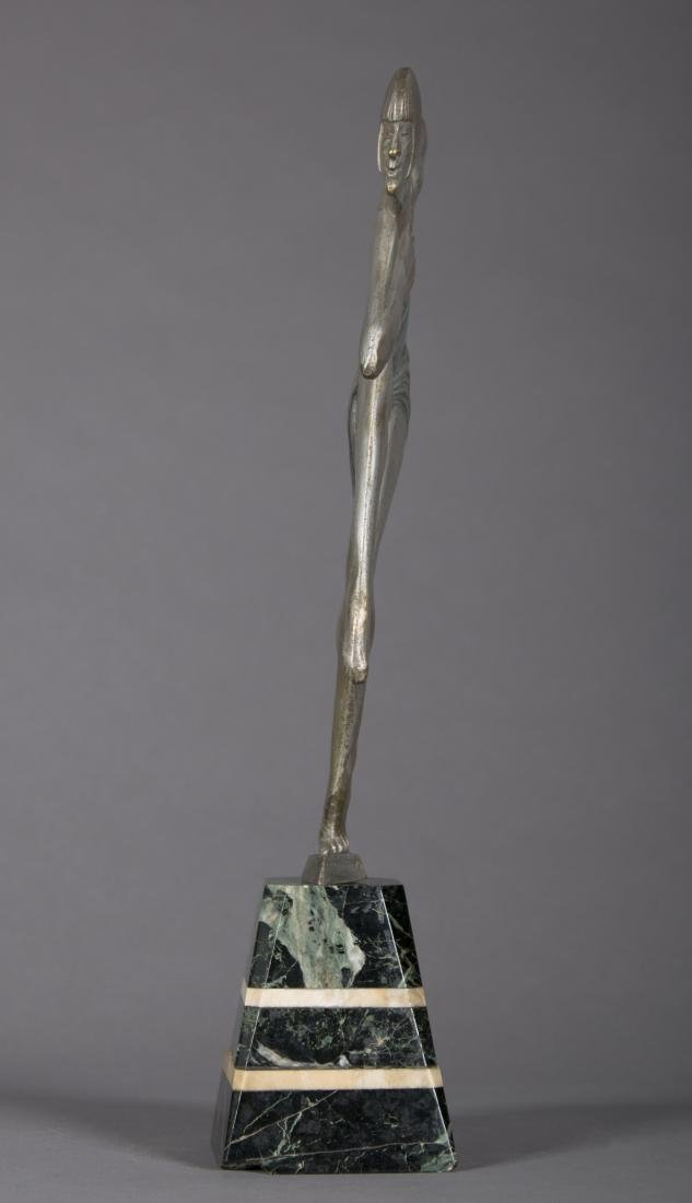 Max Le Verrier (French) Art Deco Dancing Figure - 3