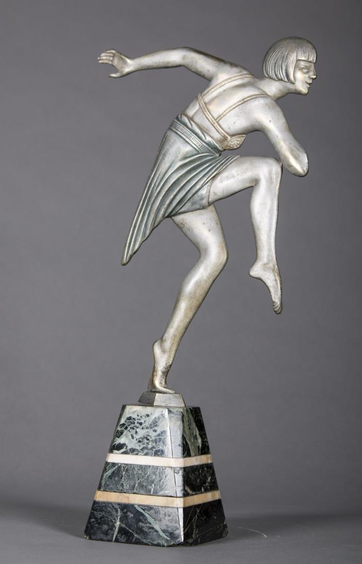 Max Le Verrier (French) Art Deco Dancing Figure - 5