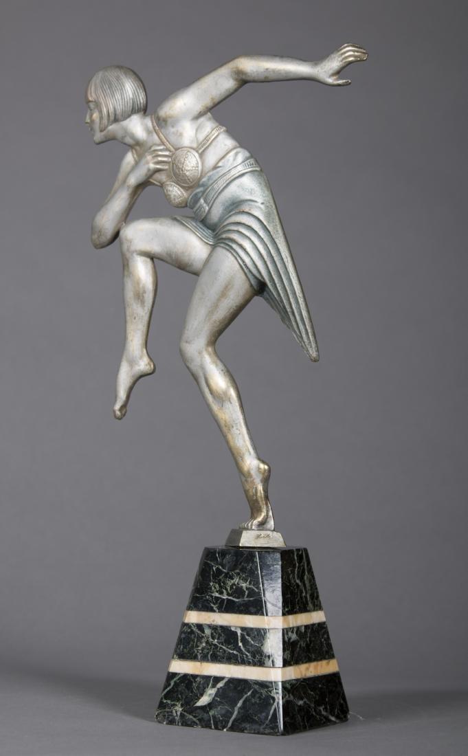 Max Le Verrier (French) Art Deco Dancing Figure - 8