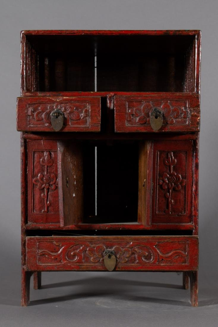 19th Century Diminutive Chinese Lacquer Etagere - 4