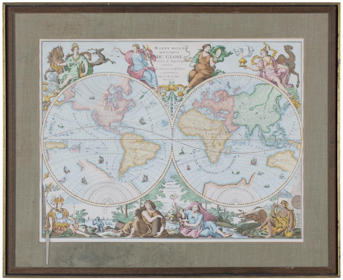 Two 17th Century Maps, Astrological and Terrestrial - 2