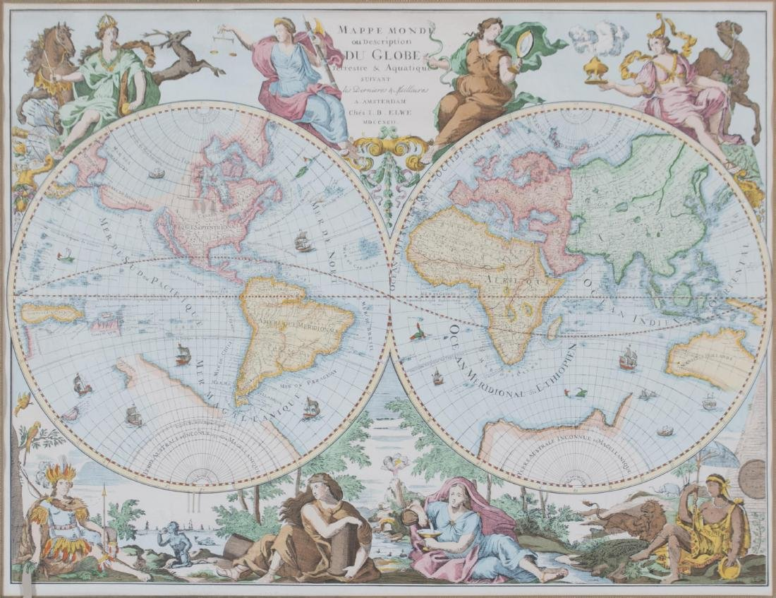 Two 17th Century Maps, Astrological and Terrestrial - 4