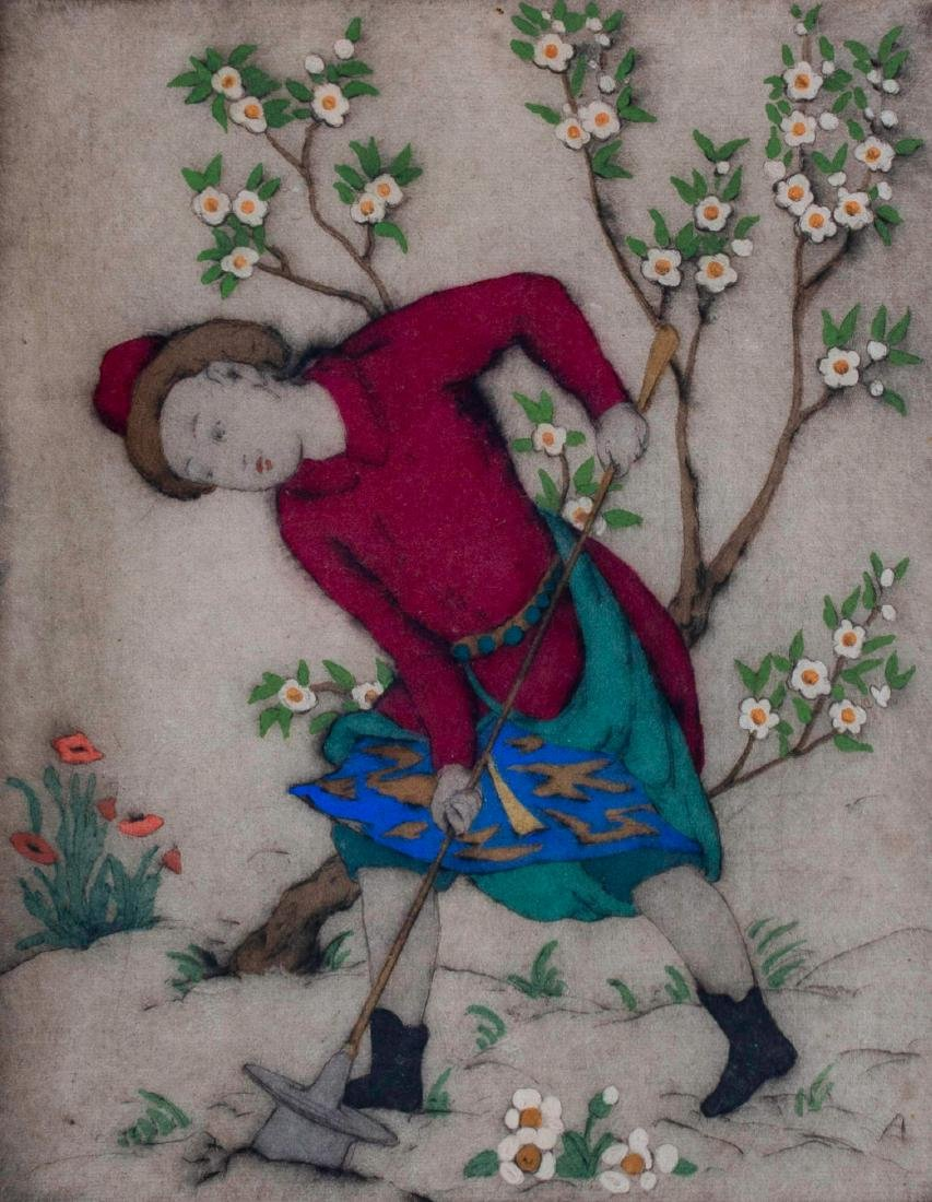Elyse Ashe Lord (English, 1900-1971) Figure in Garden - 2
