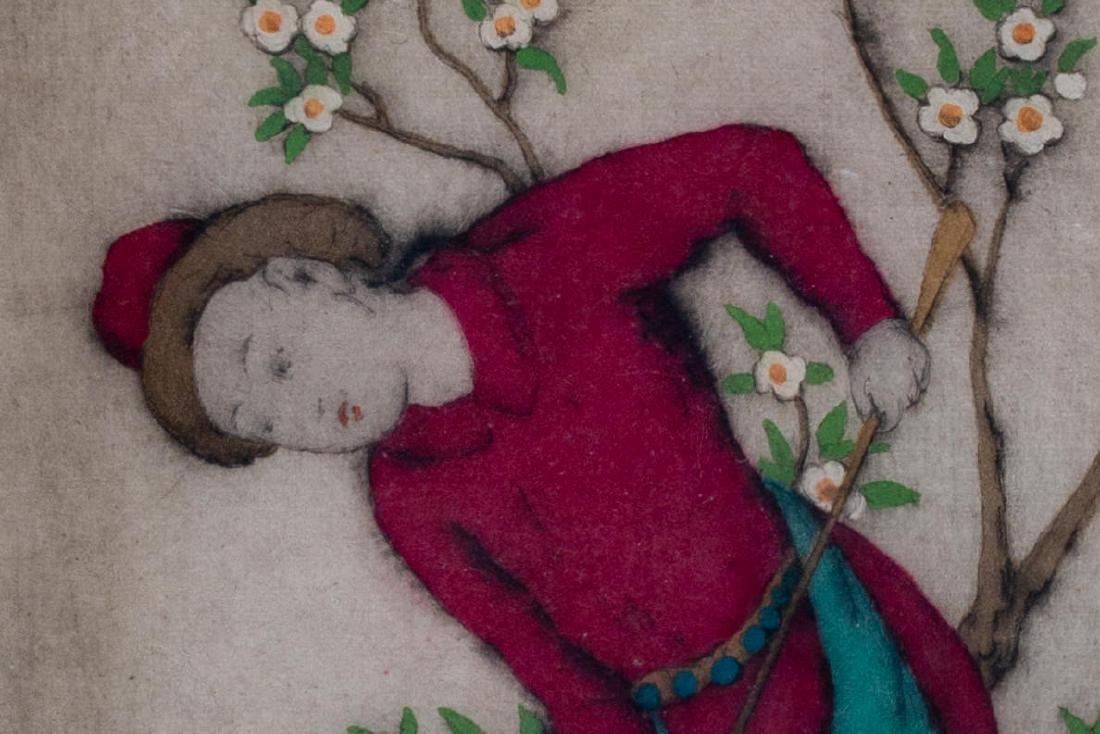Elyse Ashe Lord (English, 1900-1971) Figure in Garden - 3
