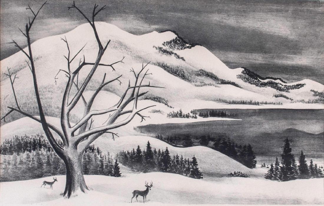 Adolf Dehn (American, 1895-1968) Winter Solitude - 2