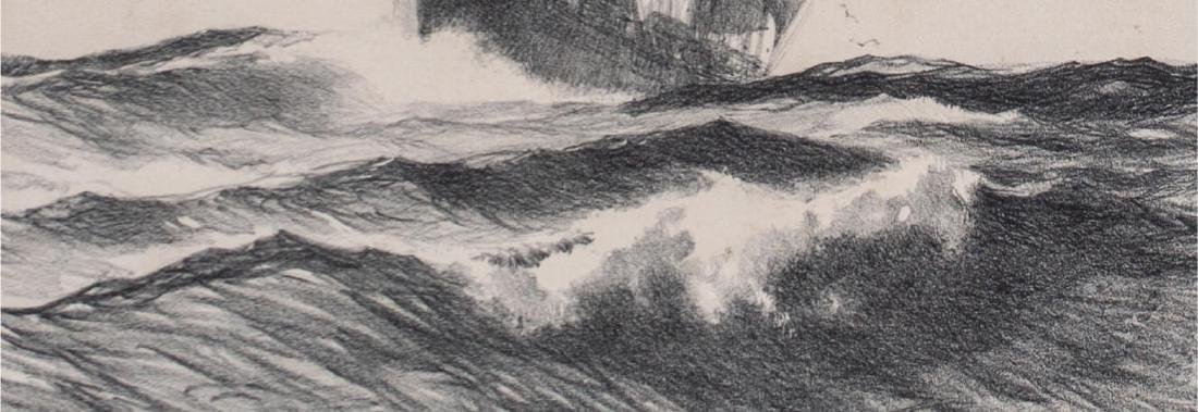 Gordon Hope Grant (American 1875-1962) Mid Ocean - 4