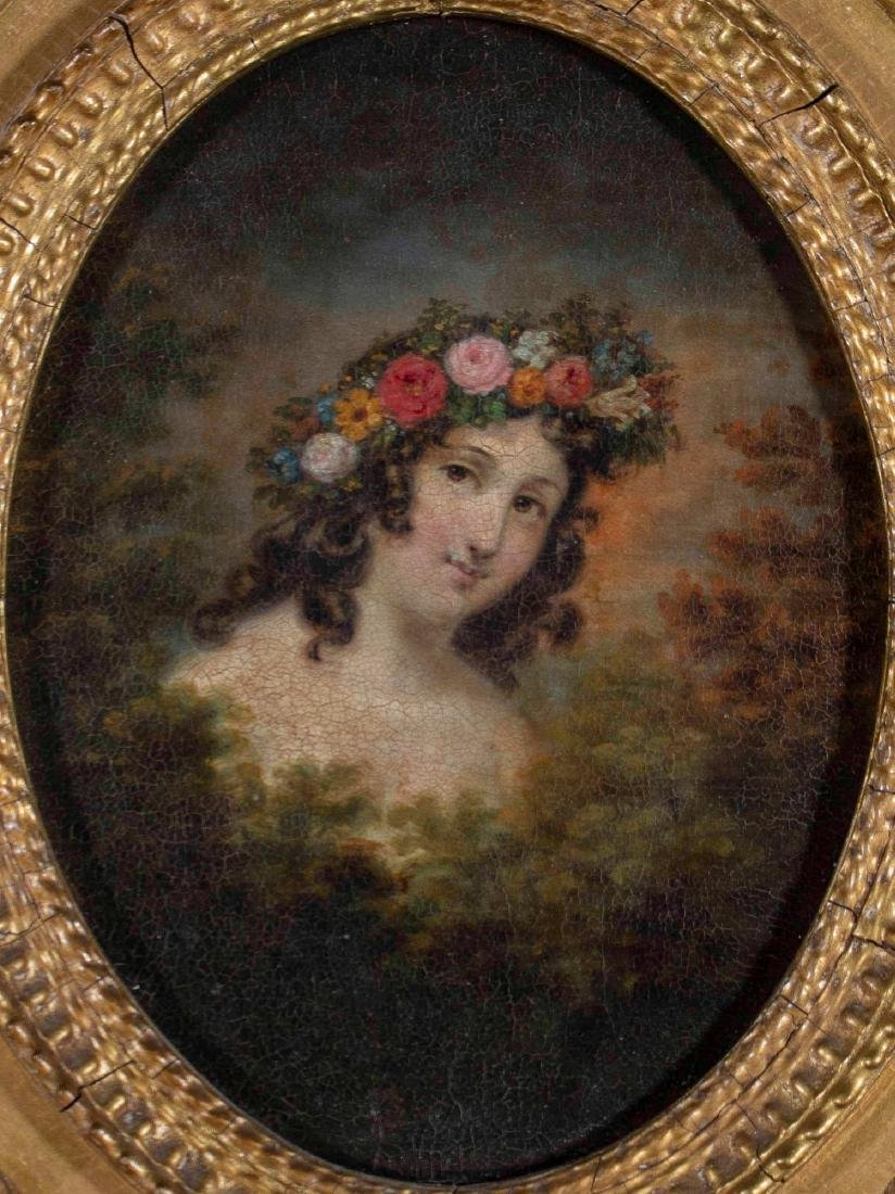 19th Century American Portrait of a Young Woman Adorned - 2