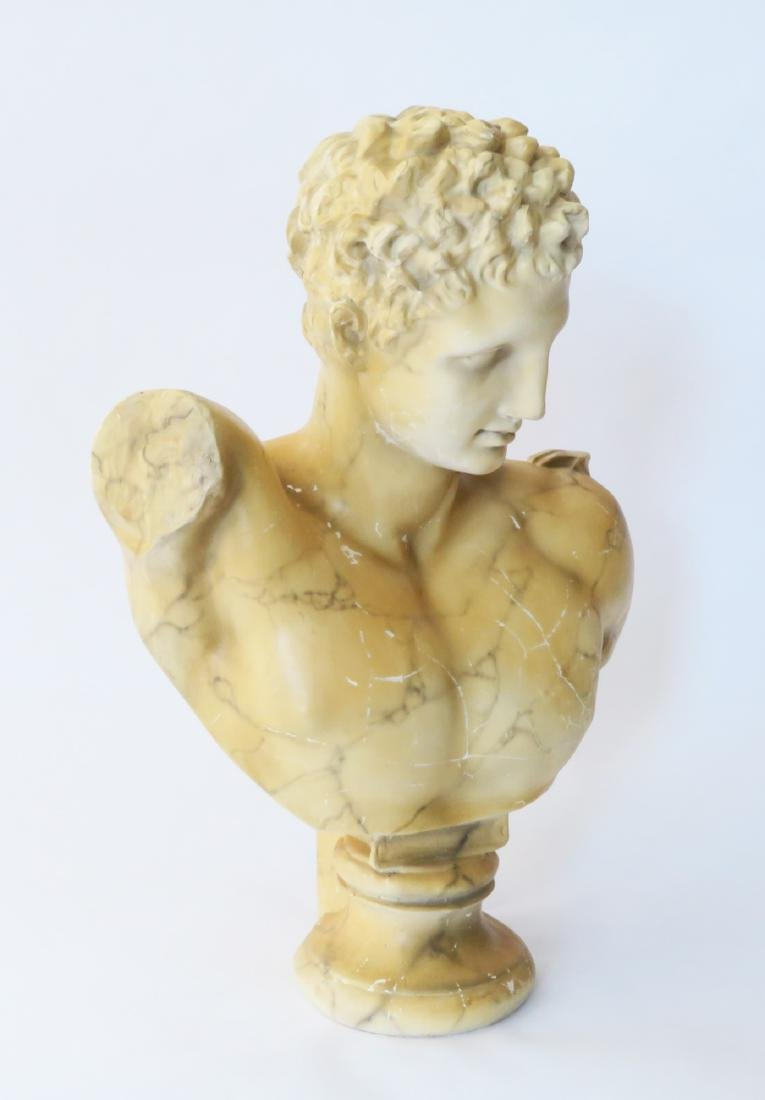 Classical Decorated Composition Bust of Hermes - 3