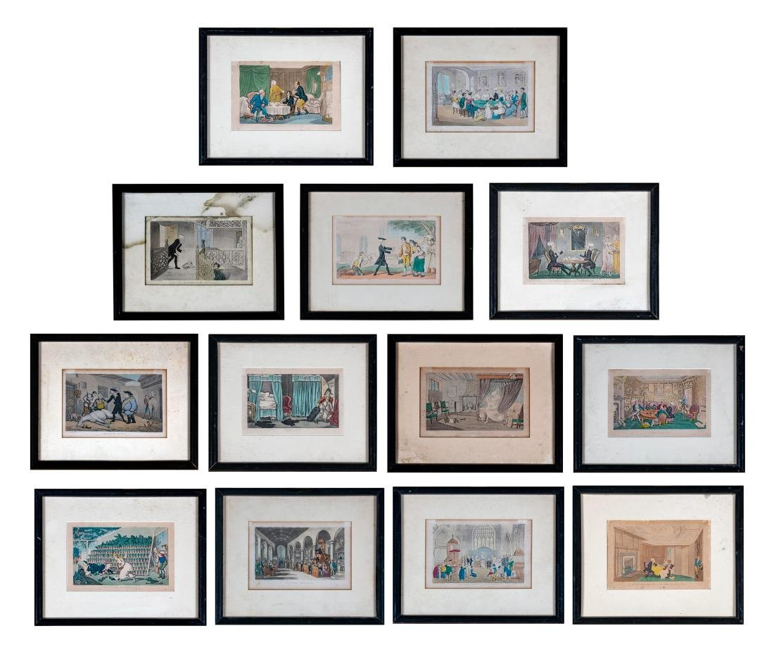 43 Set of Thirteen English Prints from the Tours of