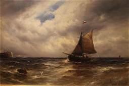 Gustave de Breanski (British 1856-1898) Fishing Boat