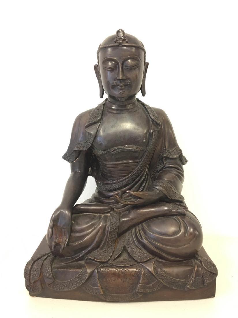 Chinese Bronze Figure of Seated Buddha