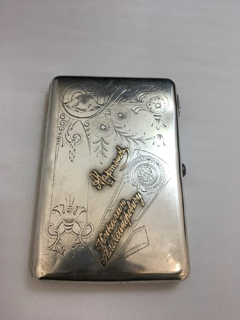 Russian Silver Cigarette Box