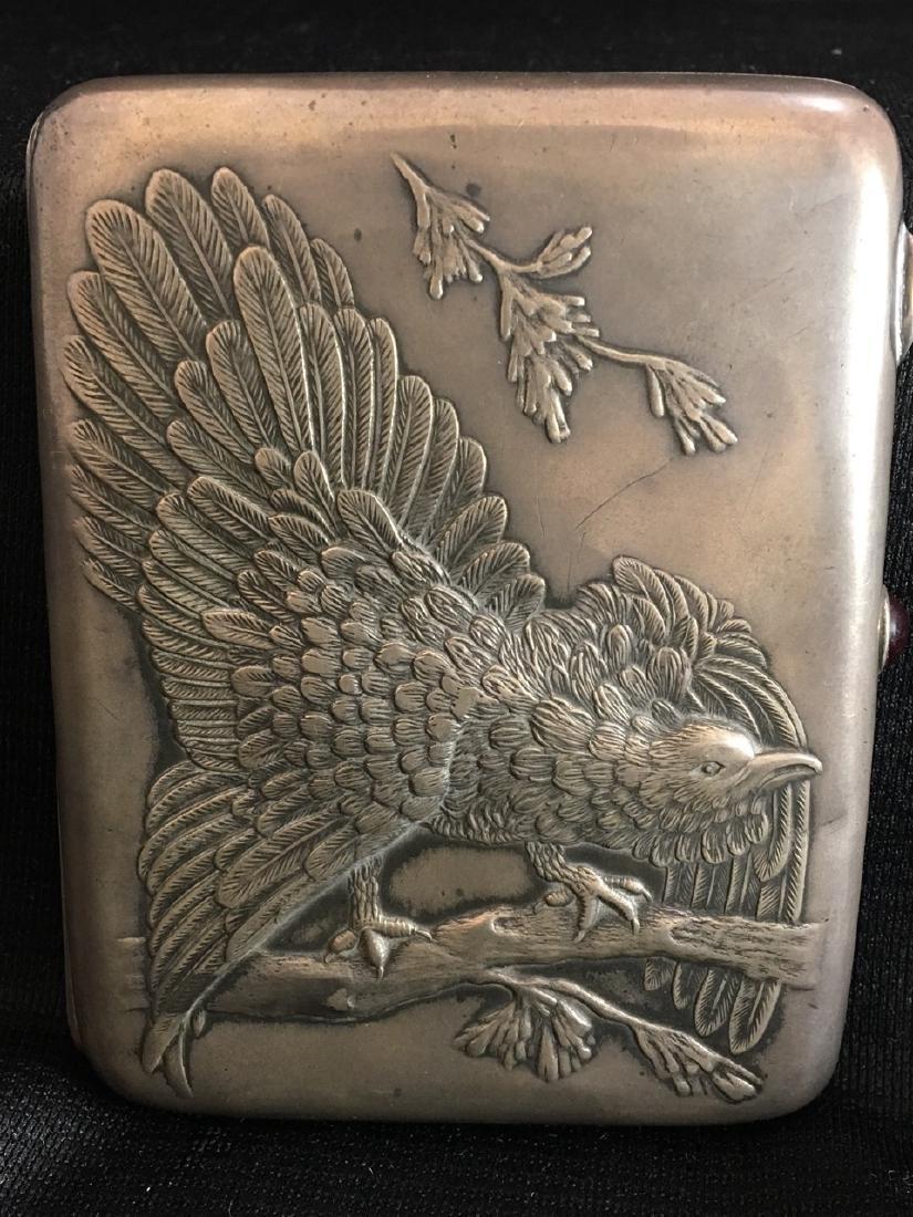 Russian Silver Box with Eagle