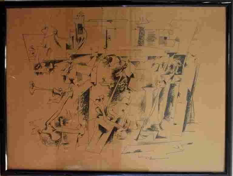 Hans Gustav Burkhardt( 1904-1994) Marker/paper