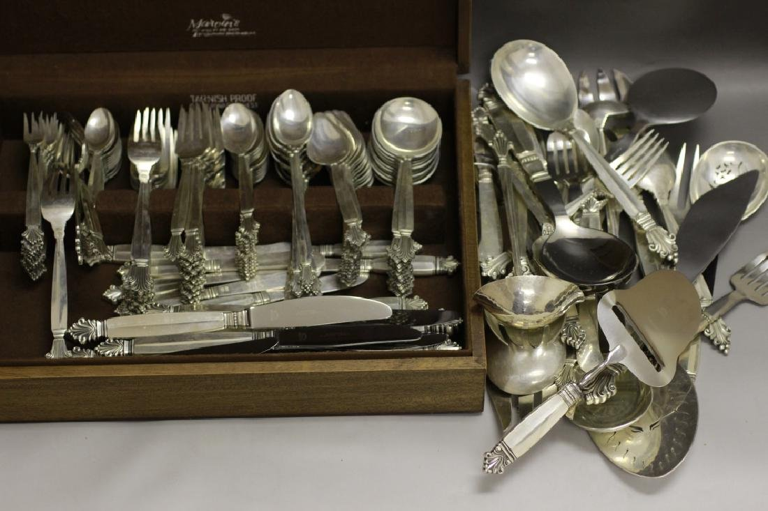 Georg Jensen Large Silver Cutlery Service for 12 - 6