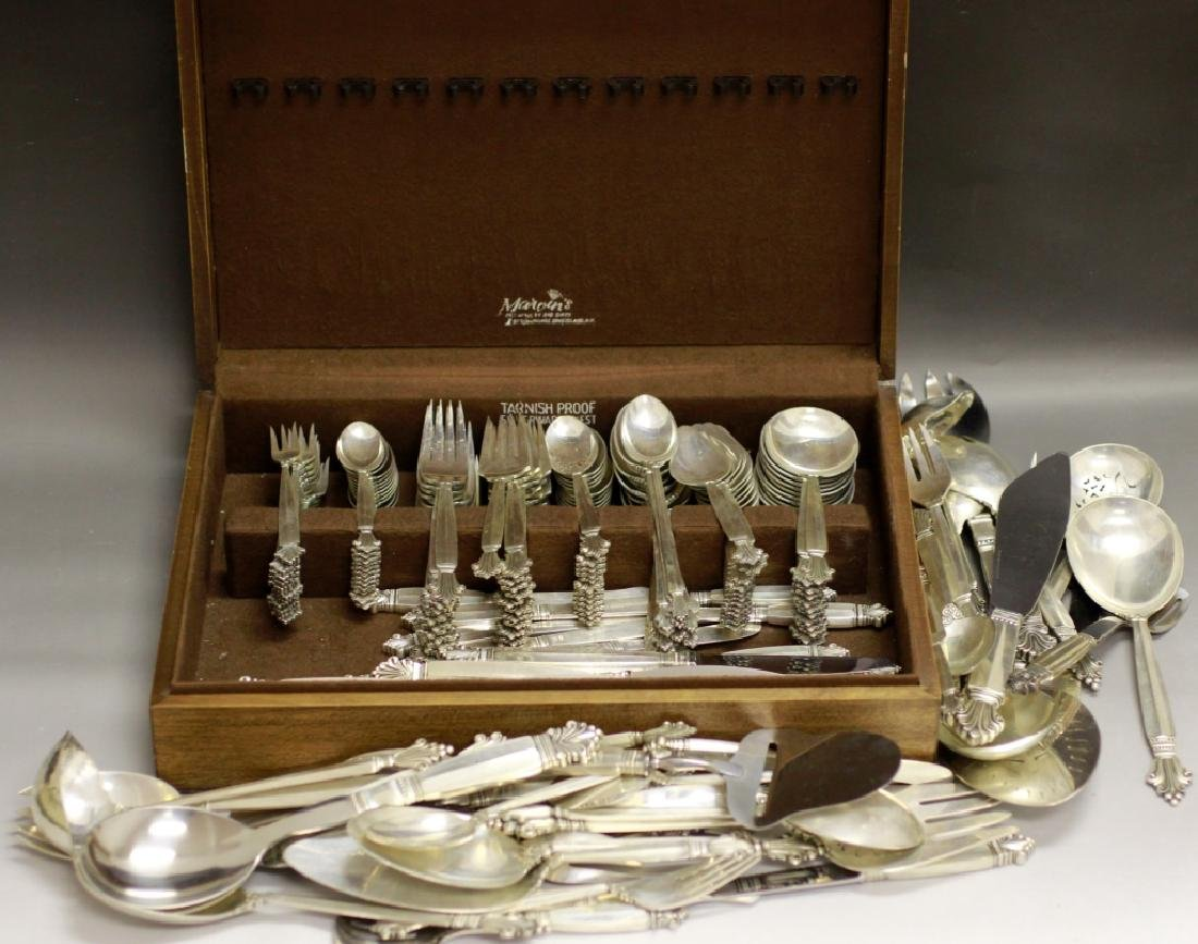 Georg Jensen Large Silver Cutlery Service for 12 - 7