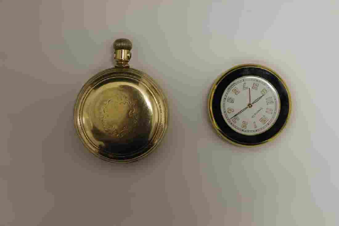 2 Pocket Watches (modern Tiffany And Gold Plated)