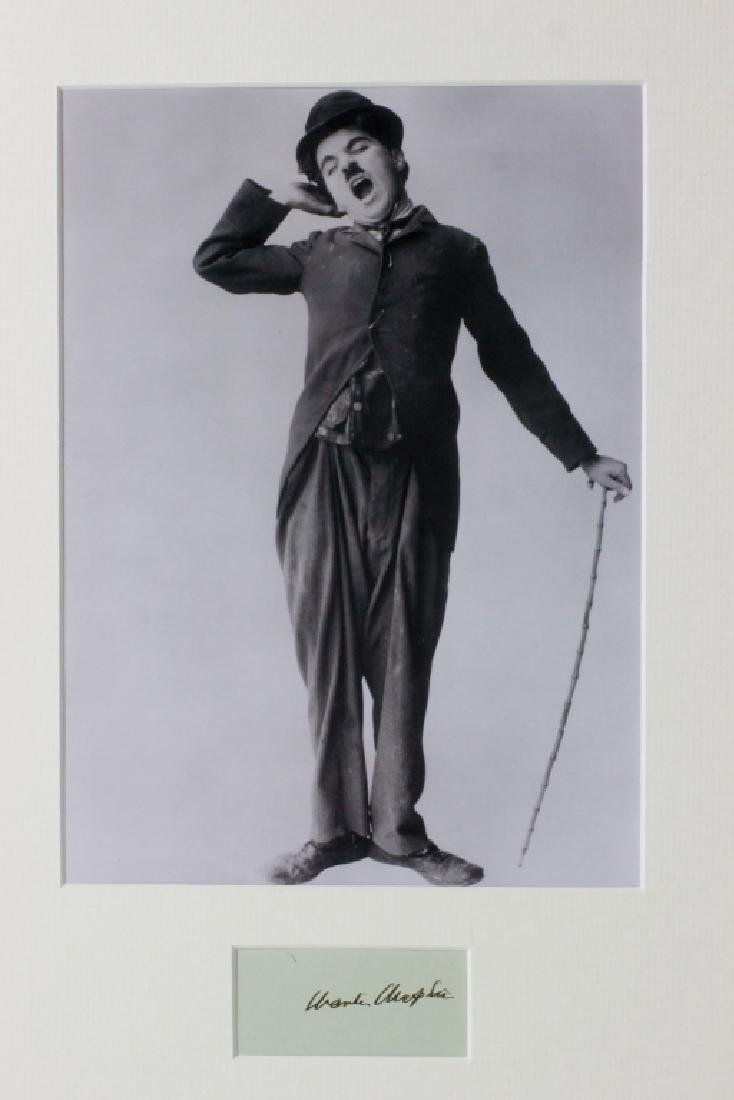 Charlie Chaplin Signature Mounted,  Attribution
