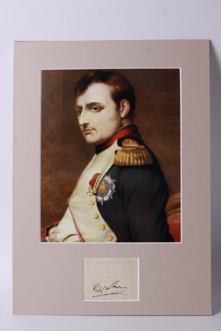 Napolean Bonapart Signature Mounted,  Attribution