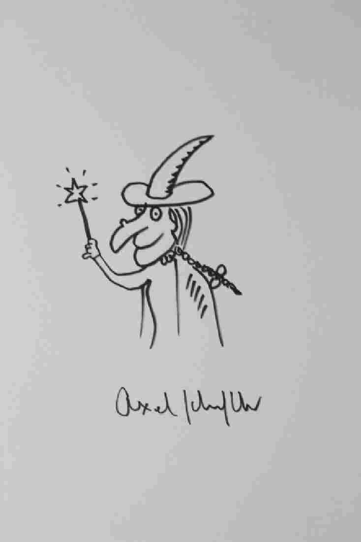 Axel Scheffler Witch Drawing,  Attribution