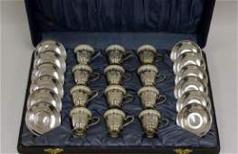Set Of 12 Sterling Silver  Lenox Cups And Plates