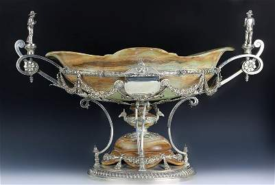 Massive English Sterling Silver & Onyx (elkington)