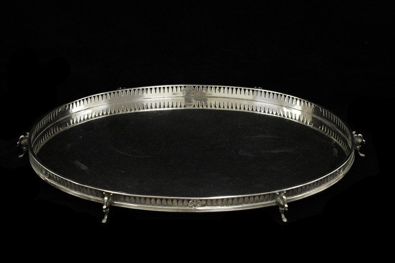 Buccellati Sterling Silver Large Tray W/ 6 Swans