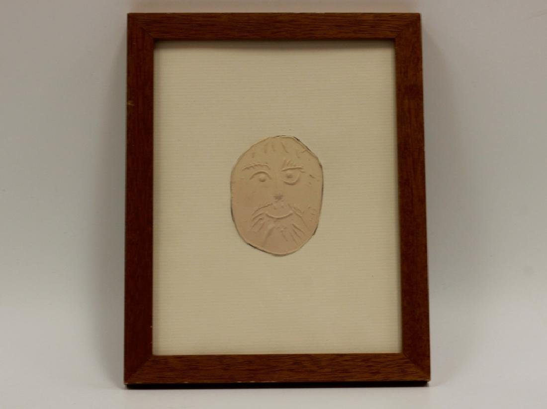 Signed Picasso Plaque Number 22/500 Framed