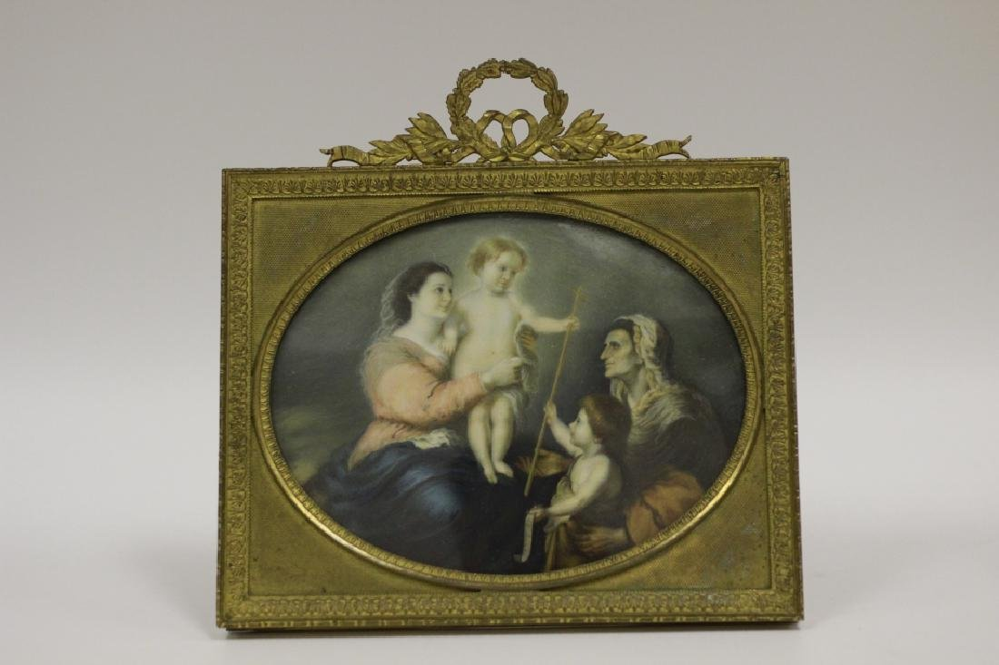 Rare 19thc Miniature Religious Oval Painting
