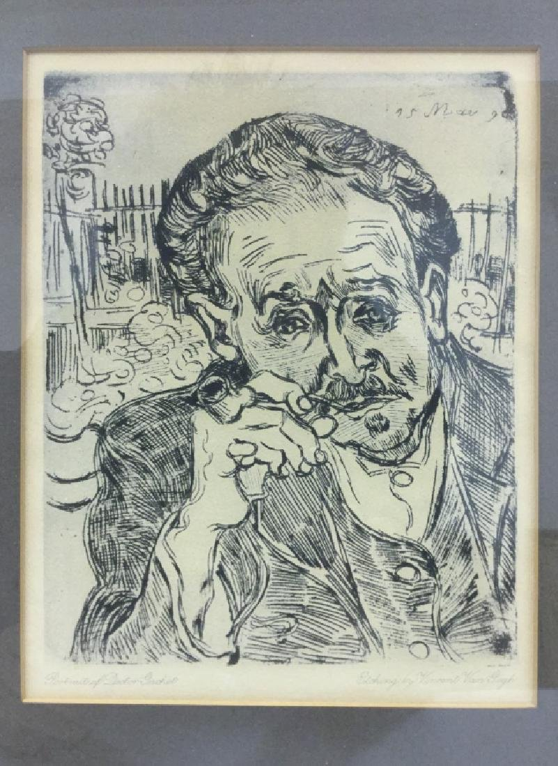 Etching By Vincent Van Gogh Of Doctor Gachet