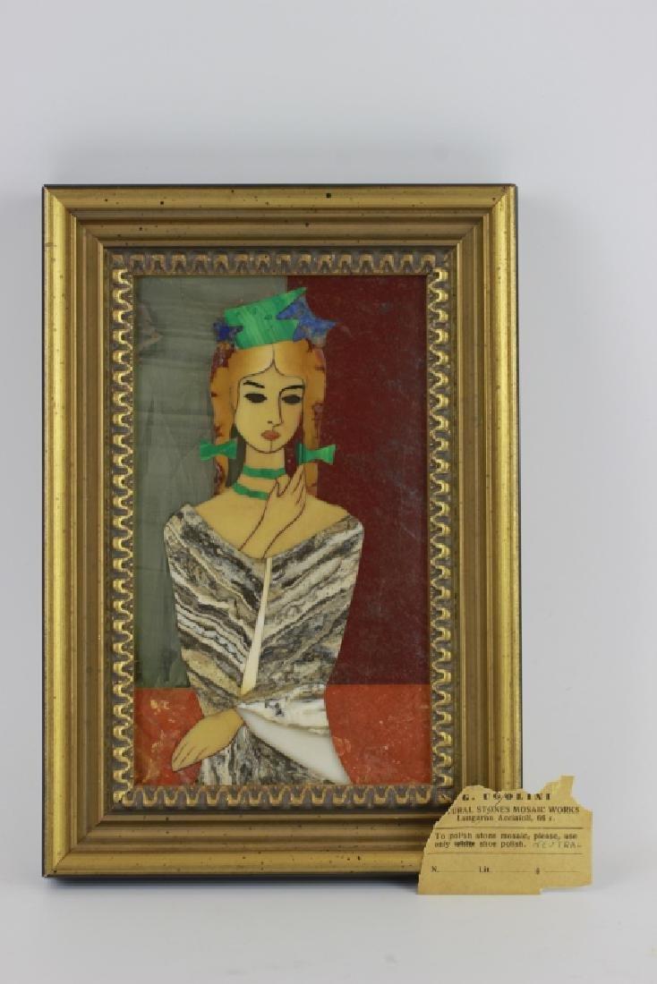 Italian Pietra Dura Plaque By G. Ugolini
