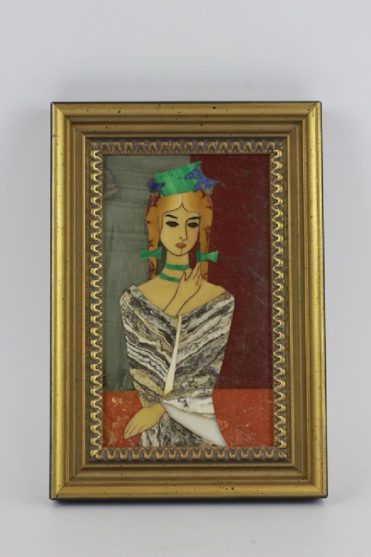Italian Pietra Dura Plaque By G. Ugolini - 3