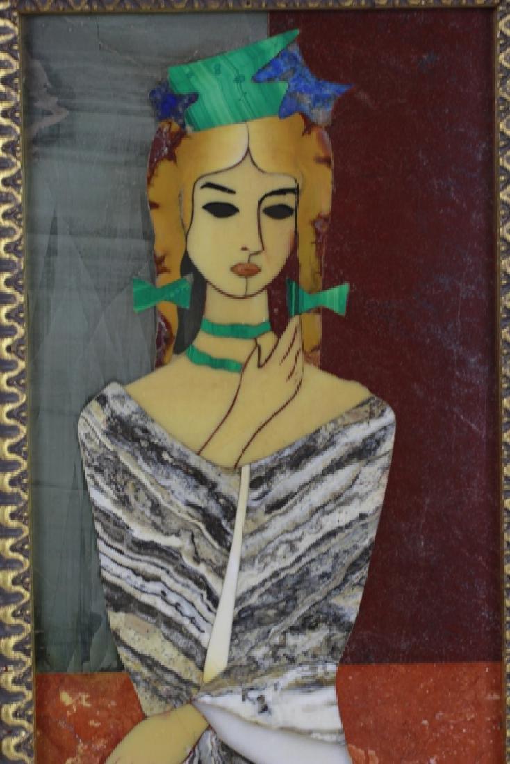 Italian Pietra Dura Plaque By G. Ugolini - 5