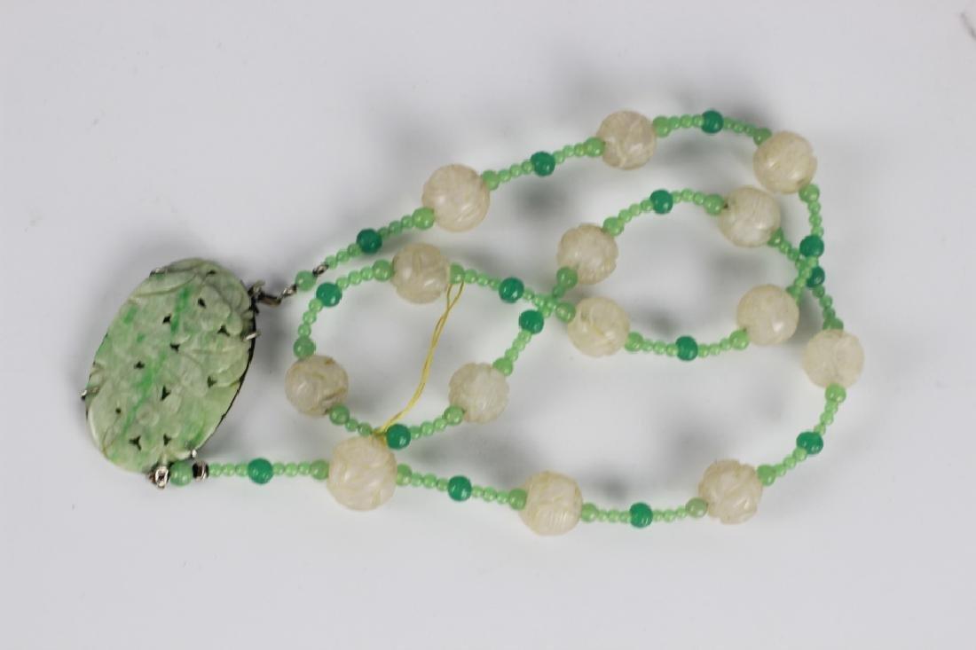 3 Jade Or Jadeite Necklaces - 10