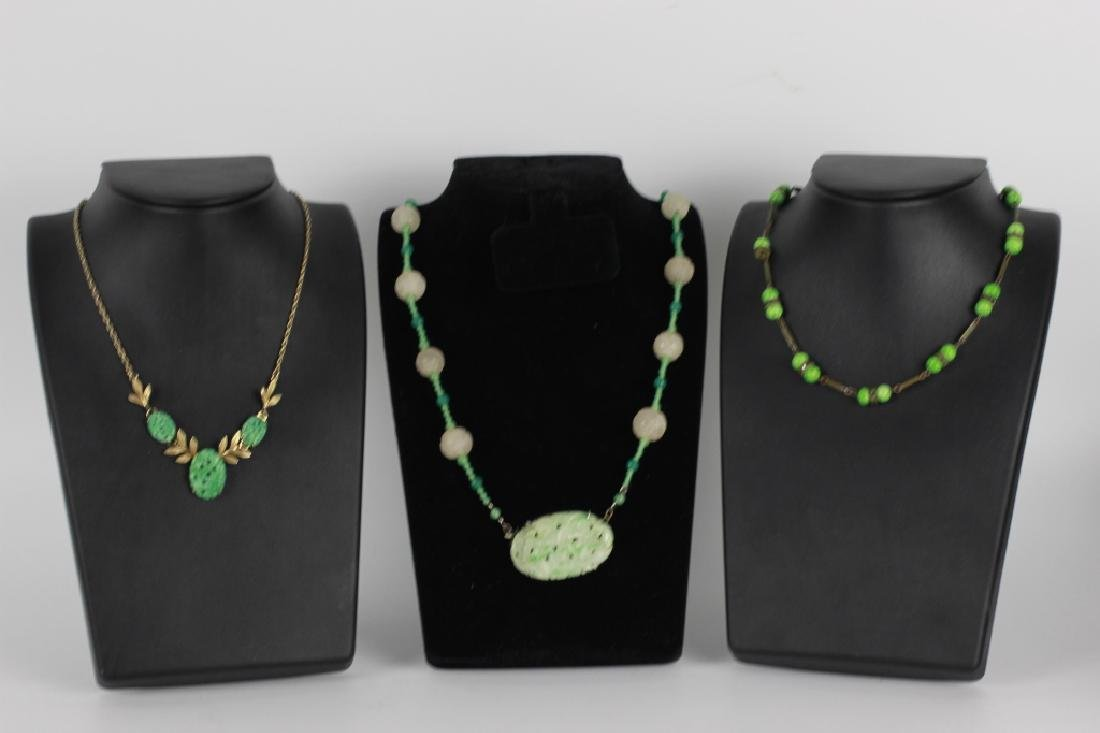 3 Jade Or Jadeite Necklaces