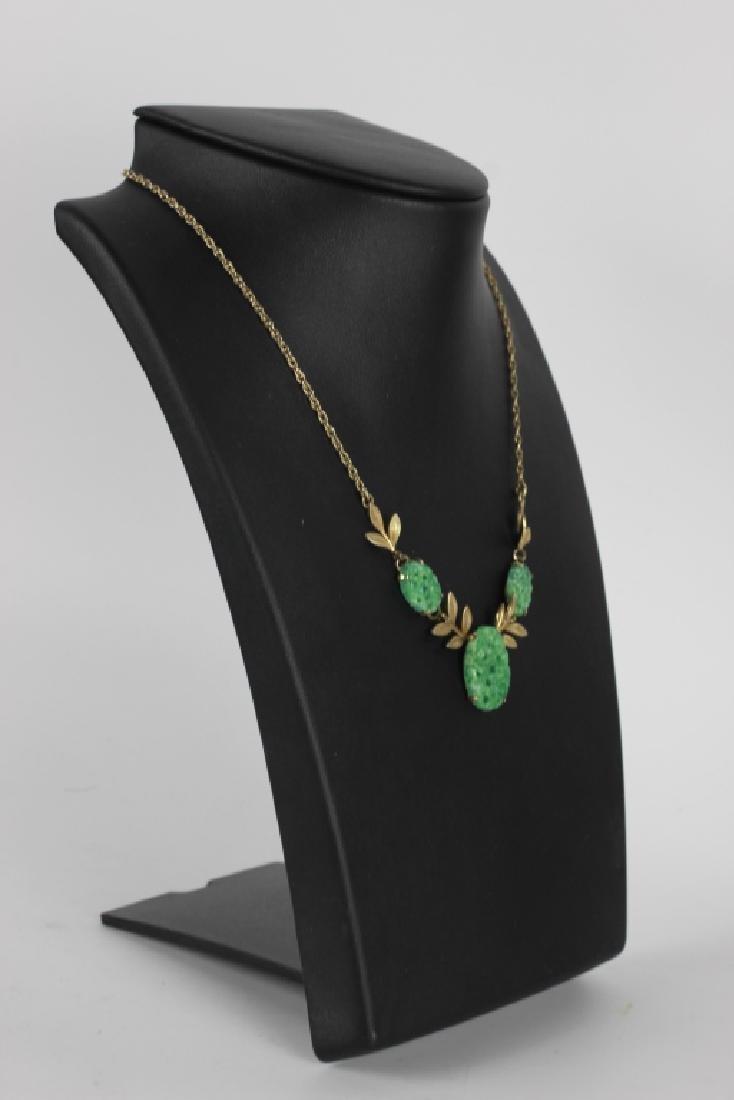 3 Jade Or Jadeite Necklaces - 3