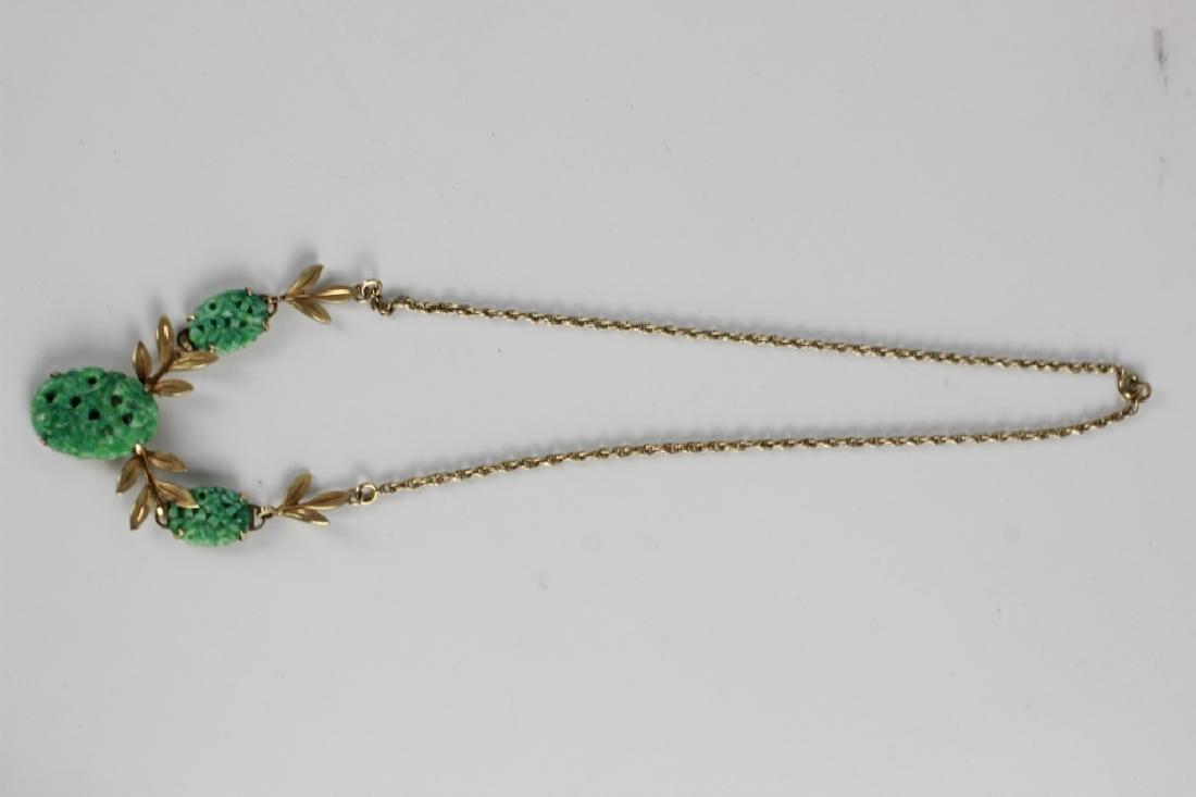 3 Jade Or Jadeite Necklaces - 5