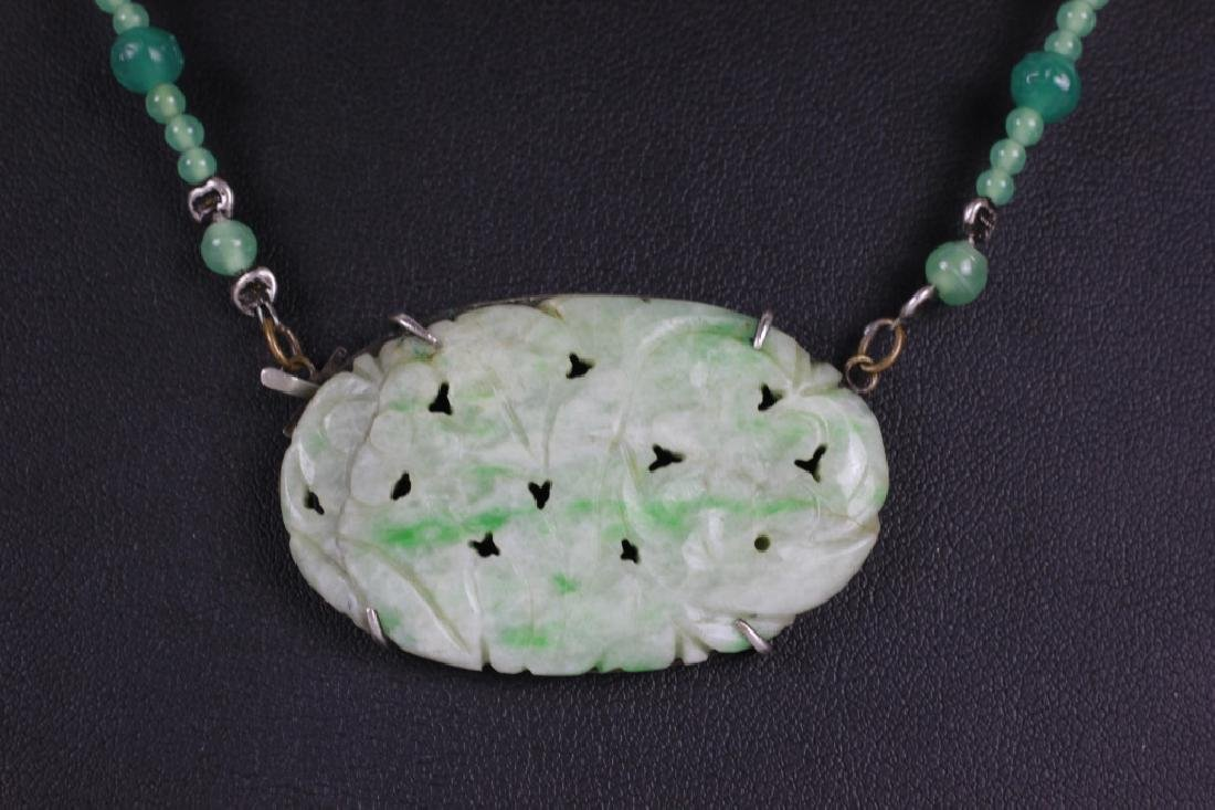 3 Jade Or Jadeite Necklaces - 6